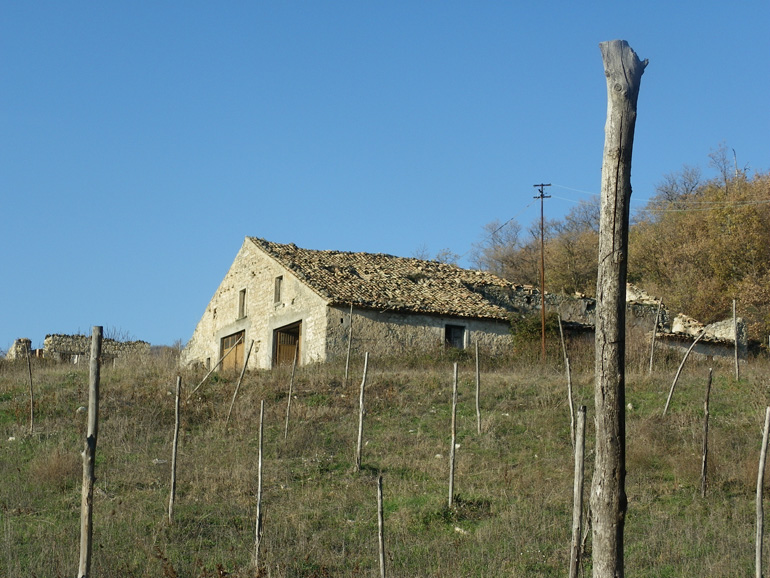 Two stone farmhouse for sale with land in Italy, Castelmauro