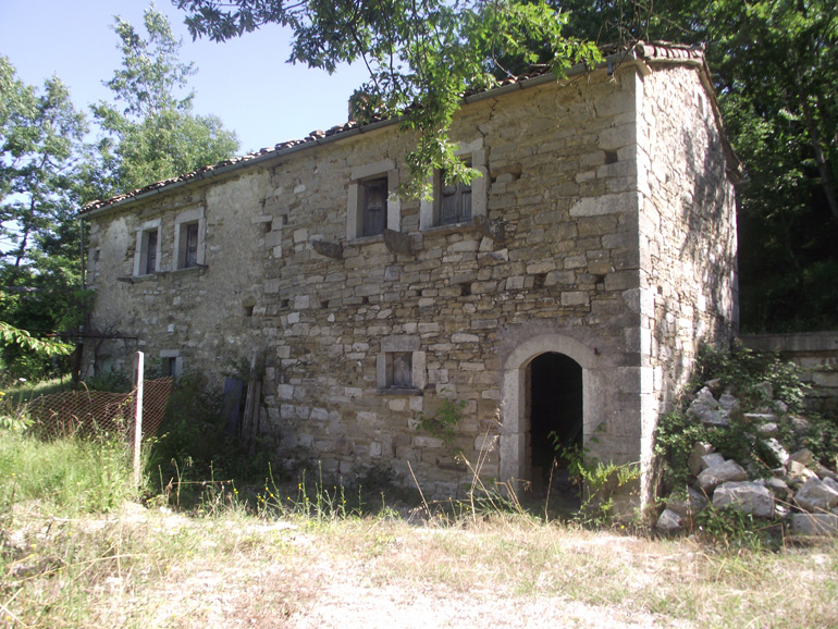 Portion of stone country house in Italy Molise, Roccasicura (Alto Molise)