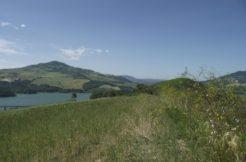 land overlooking the lake